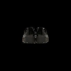 Mocassini neri in vernice con suola alta, tacco basso, Scarpe, 120639018VENERO, 003 preview