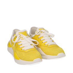 Dad shoes gialle in tessuto tecnico , Sneakers, 15F609059TSGIAL035, 002a