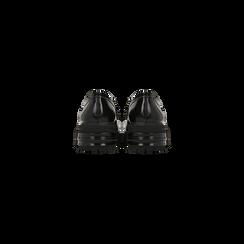 Mocassino con tacco con suola alta dentellata, tacco basso, Scarpe, 120608951ABNERO, 003 preview