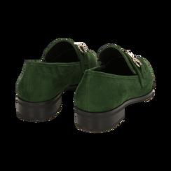 Mocasines de microfibra en color verde, Zapatos, 164964141MFVERD035, 004 preview