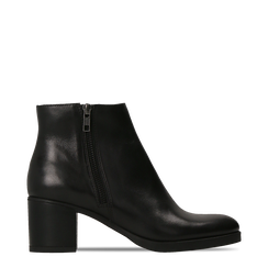 Tronchetti neri in vera pelle con tacco 5 cm, Primadonna, 127714166PENERO035, 001a
