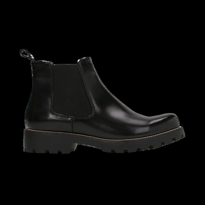 Chelsea Boots neri, punta tonda, Scarpe, 120608573ABNERO