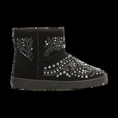 Scarponcini invernali neri con mini borchie, Scarpe, 12A880115MFNERO, 001 preview