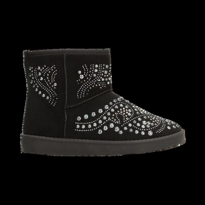 Scarponcini invernali neri con mini borchie, Scarpe, 12A880115MFNERO