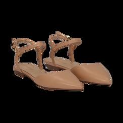 Ballerine slingback nude in eco-pelle, Scarpe, 134894185EPNUDE036, 002 preview