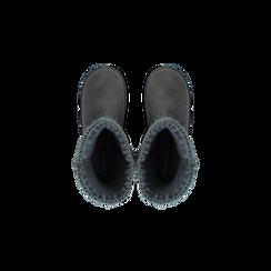 Scarponcini invernali scamosciati grigi , Scarpe, 125001041MFGRIG036, 004 preview