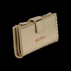 Portefeuille doré en simili-cuir brillant, Sacs, 155122158LMOROGUNI, 002 preview