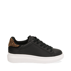 Sneakers noires/léopard , Primadonna, 162602011EPNELE035, 001a