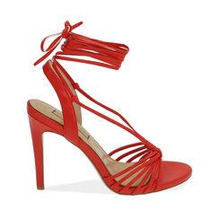 Sandales rouges, talon de 10 cm, Primadonna, 172174221EPROSS036, 001a