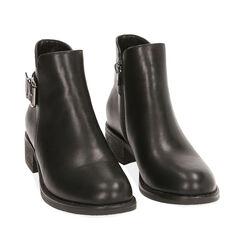 Ankle boots noirs, talon 4 cm , Primadonna, 180621683EPNERO035, 002a