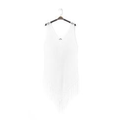 Mini-dress bianco con lavorazione macramè, Primadonna, 13A345075TSBIANUNI, 001a