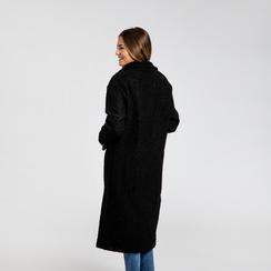 Cappotto lungo nero lavorazione shearling, Saldi, 12G750756TSNERO, 003 preview