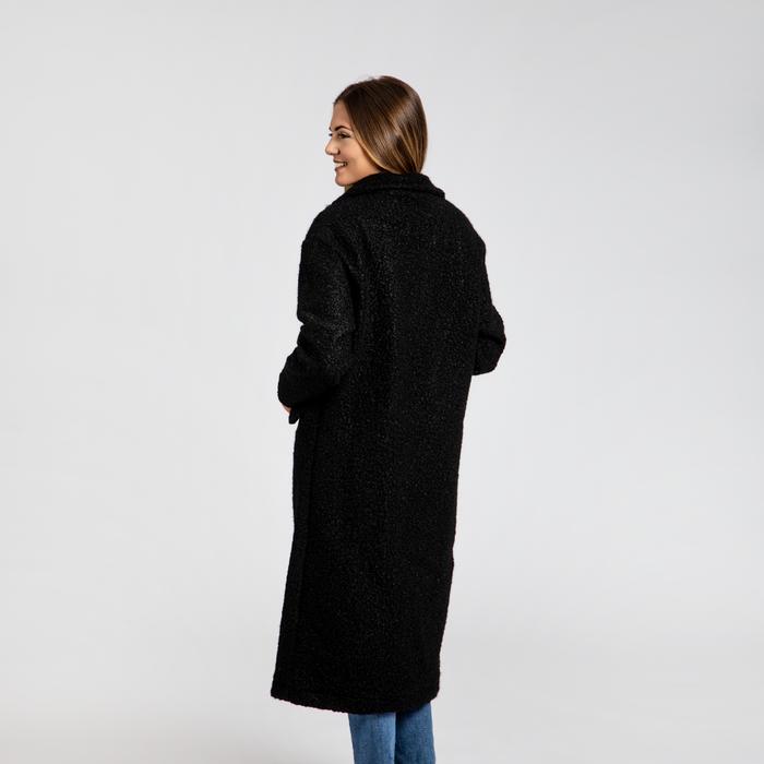 competitive price 61f53 68d4c Cappotto lungo nero lavorazione shearling