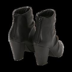 Camperos neri in pelle, tacco 8,5 cm , Scarpe, 14D600911PENERO035, 004 preview