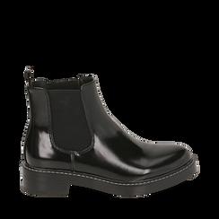 Chelsea boots neri abrasivati , Primadonna, 160685073ABNERO037, 001a