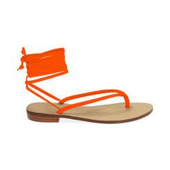 Sandali lace-up arancio in lycra, Primadonna, 174982380LYARAN035, 001 preview