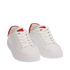 Sneakers bianco/rosse, 172621209EPBIRO035, 002a