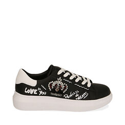 Sneakers negras con estampado cartoon, Primadonna, 172621011EPNERO035, 001a