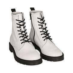 Botas Militares de piel blanco, Primadonna, 17B810831PEBIAN035, 002 preview