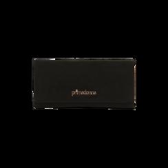 Portafoglio nero in microfibra scamosciata con 12 vani, Borse, 122200022MFNEROUNI, 001 preview