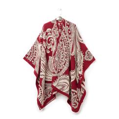 Poncho paisley rosso, Primadonna, 16B400003TSROSSUNI, 003 preview