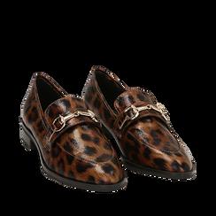 Mocasines con estampado de leopardo, Primadonna, 164964141EPLEMA037, 002a