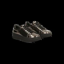 Sneakers canna di fucile  effetto mirror e suola nera, Scarpe, 129312321SPCANN, 002 preview