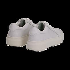 Sneakers bianche in eco-pelle con suola flat, Scarpe, 132019051EPBIAN036, 004 preview