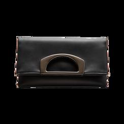 Pochette nera in ecopelle, Borse, 123306750EPNEROUNI, 001 preview