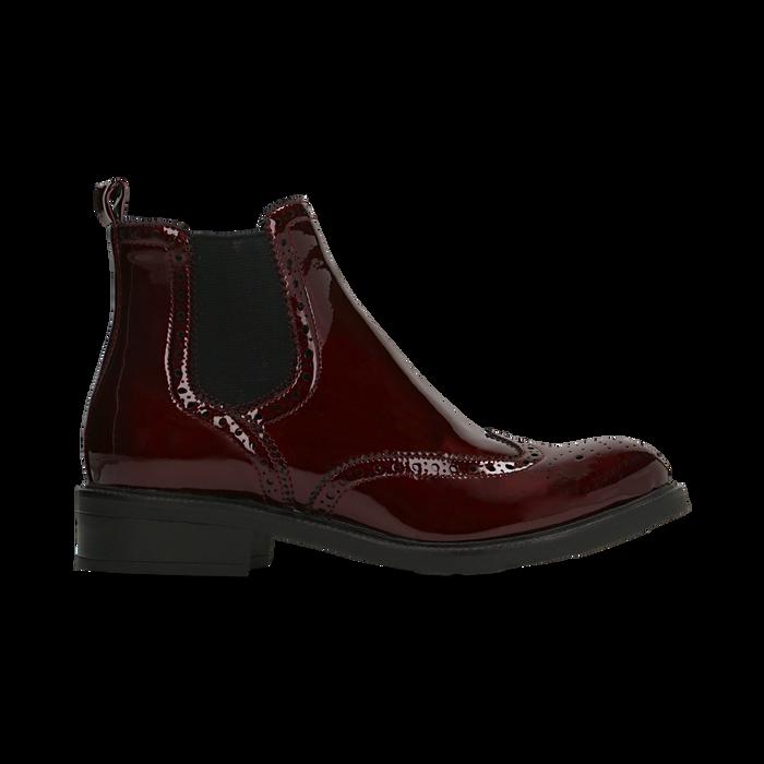 Chelsea Boots bordeaux vernice, lavorazione Duilio, Scarpe, 120618206VEBORD
