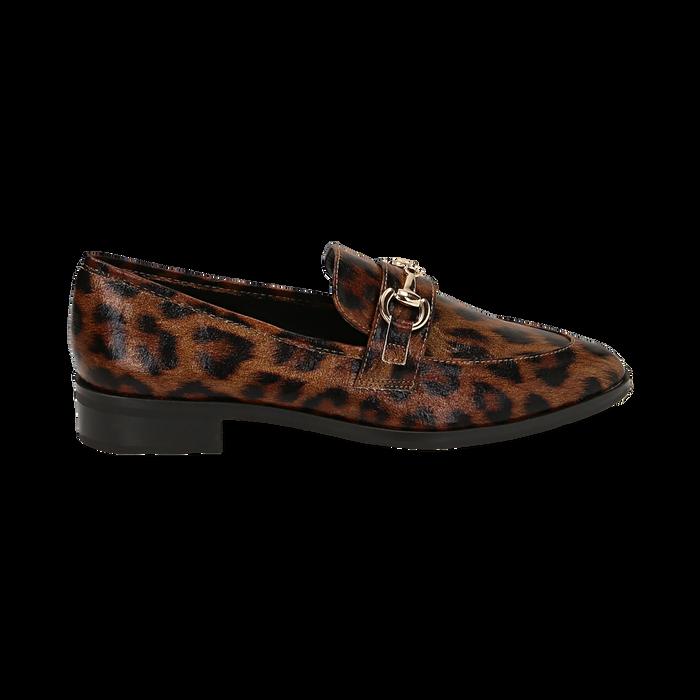 Mocasines con estampado de leopardo, Primadonna, 164964141EPLEMA037