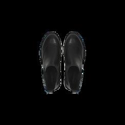 Chelsea Boots neri, lavorazione Duilio, Scarpe, 120618206EPNERO040, 004 preview