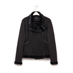 Giacca nera in microfibra, Abbigliamento, 146500413MFNERO3XL, 003 preview