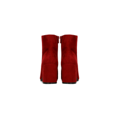Tronchetti bordeaux scamosciati, tacco medio 5 cm, Scarpe, 122762715MFBORD, 003 preview