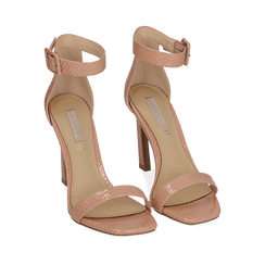 Sandali nude in vernice, tacco 10,50 cm , Chaussures, 151755083VENUDE038, 002a