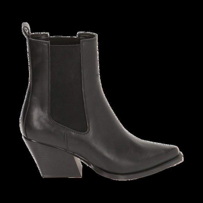 Camperas negras, tacón 7 cm, Zapatos, 170508001EPNERO035