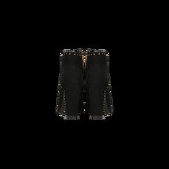 Tronchetti neri con mini-borchie, tacco 9 cm, Scarpe, 120381110MFNERO, 003 preview