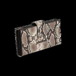 Portefeuille blanc/noir imprimé python, Primadonna, 165122158PTBINEUNI, 002 preview