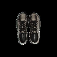 Sneakers canna di fucile  effetto mirror e suola nera, Scarpe, 129312321SPCANN, 004 preview