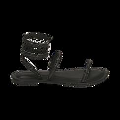 CALZATURA FLAT MICROFIBRA PIETRE NERO, Chaussures, 154928863MPNERO036, 001 preview