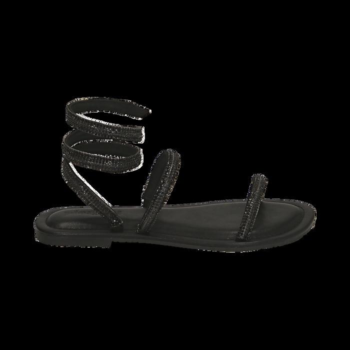 CALZATURA FLAT MICROFIBRA PIETRE NERO, Zapatos, 154928863MPNERO036