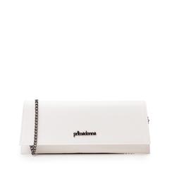 Pochette piatta bianca in eco-pelle, Borse, 145122509EPBIANUNI, 001a