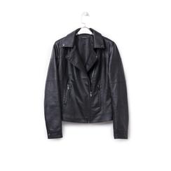 Biker jacket nera in eco-pelle, Abbigliamento, 146501883EPNERO, 003 preview