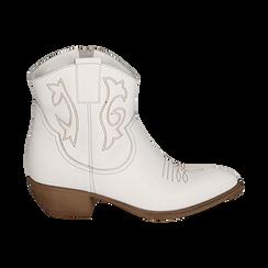 Camperas en piel color blanco, tacón 4 cm, Primadonna, 157732901PEBIAN036, 001 preview