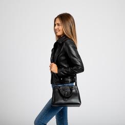 Mini-bag nera in ecopelle, Primadonna, 121818007EPNEROUNI, 007 preview