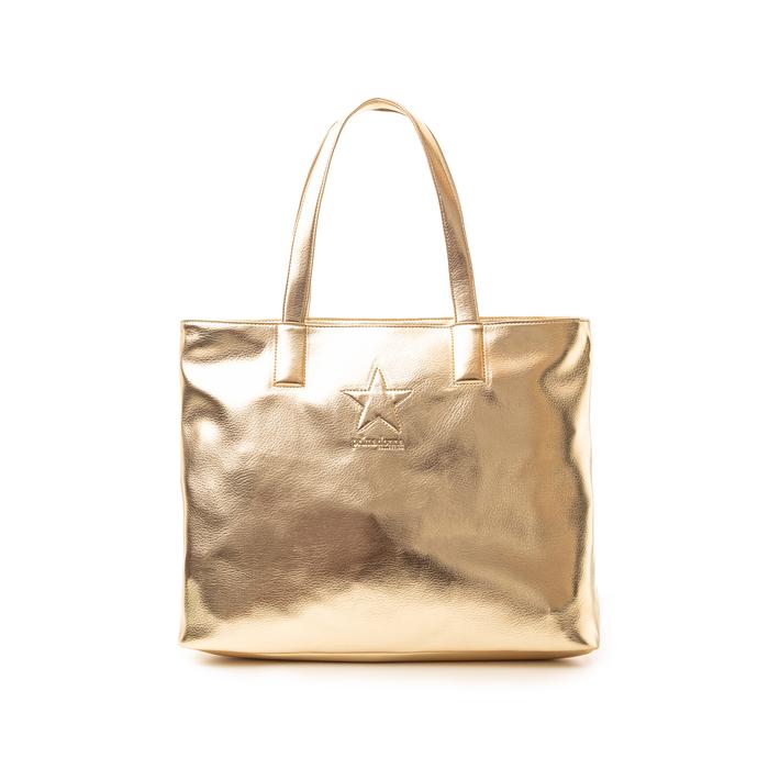Maxi bag oro in laminato , Saldi, 133764104LMOROGUNI