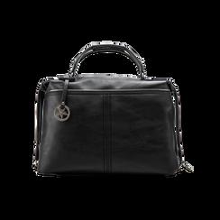 Maxi-bag nera in ecopelle, Primadonna, 122901475EPNEROUNI, 001 preview