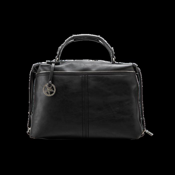 Maxi-bag nera in ecopelle, Primadonna, 122901475EPNEROUNI
