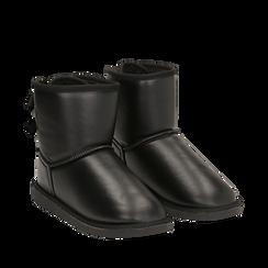 Stivali neri in eco-pelle, Stivaletti, 149916015EPNERO035, 002a