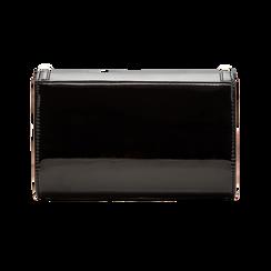 Borsa a tracolla nera in ecopelle vernice, Primadonna, 123386501VENEROUNI, 002 preview